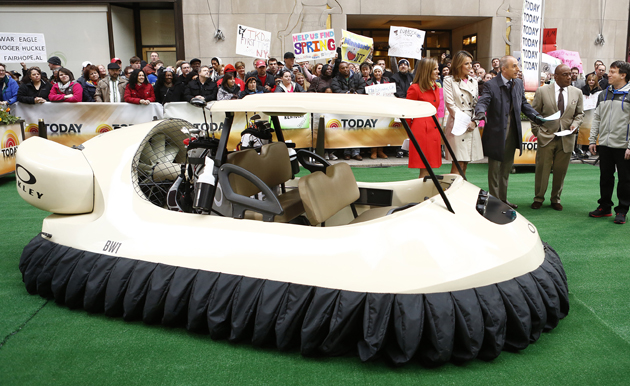 Today Shows talks about golf cart hovercraft