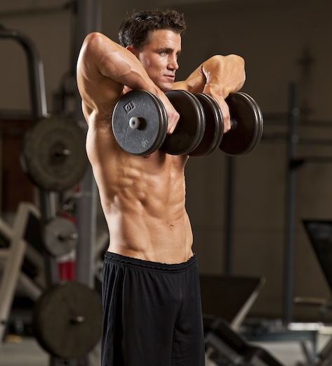 Delt exercises with dumbbells