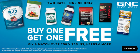 GNC has a great buy one, get one free sale on their site today. This deal is linked below, and it is valid now at your local store. Do not miss out! GNC BOGO Sale For September.