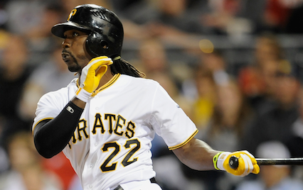 Andrew McCutchen swinging bat