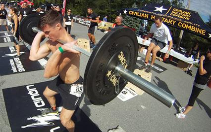 Man participating in Civilian Military Combine