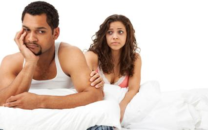 Man embarrassed over erectile dysfunction