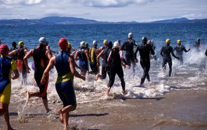 swim stage of Ironman Triathlon