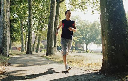 man running outside