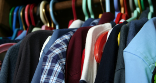 Rack of men's shirts