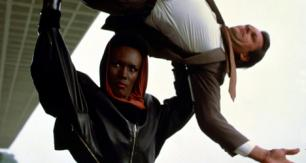 Grace Jones and Roger Moore in A View To A Kill