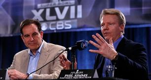 Phil Simms on CBS during Super Bowl XLVII