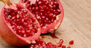 Sliced Pomegranate with Seeds