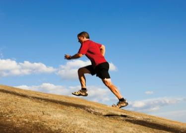 Uphill sprinting is an easy workout that can be done outside
