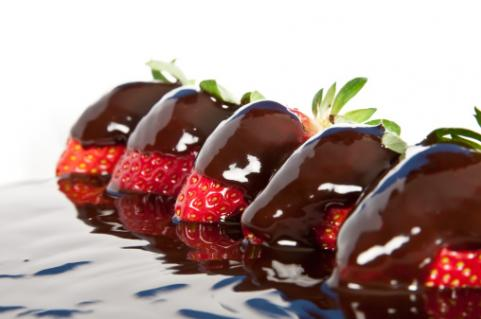 Dark chocolate covered strawberries