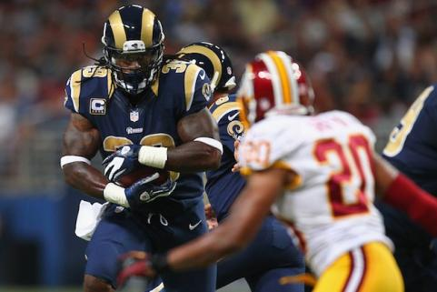 Steven Jackson against the Washington Redskins
