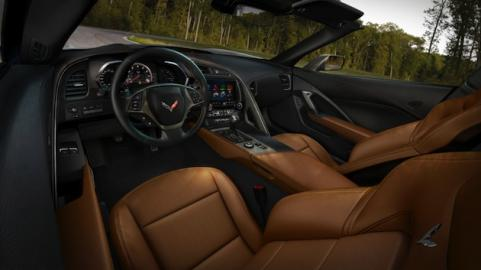 2014 Corvette brown leather interior