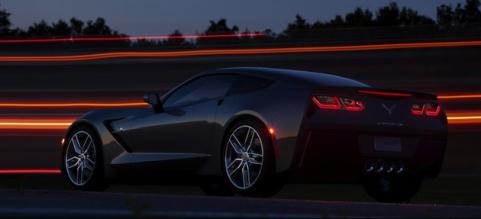 2014 Corvette on the road