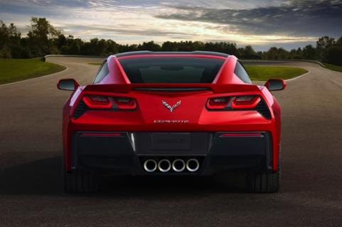 2014 Corvette from behind