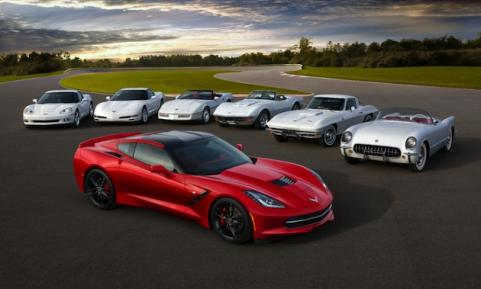 Corvette models from each generation