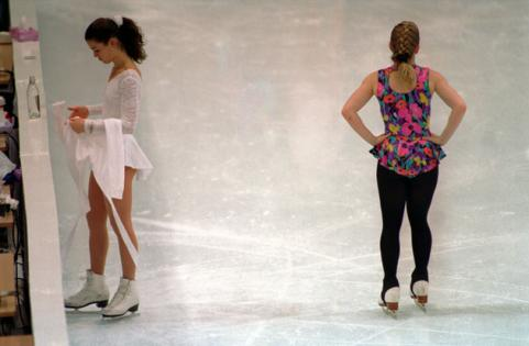 Tonya Harding and Nancy Kerrigan
