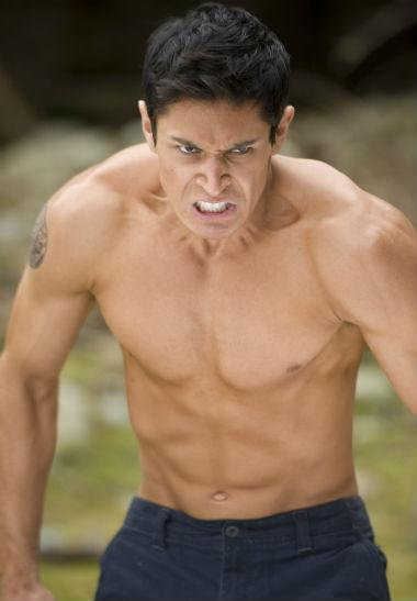 Alex Meraz shirtless