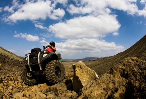 Quad Bike Through Lava Fields