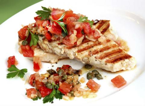 chicken breast baked with diced tomatoes