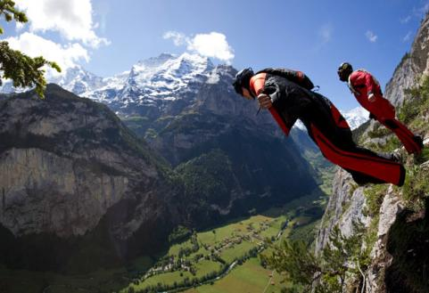 BASE Jump Interlaken, Switzerland