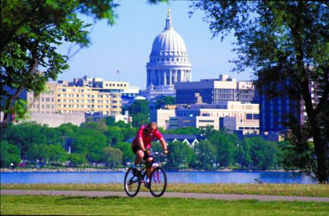 biking in madison, wisconsin