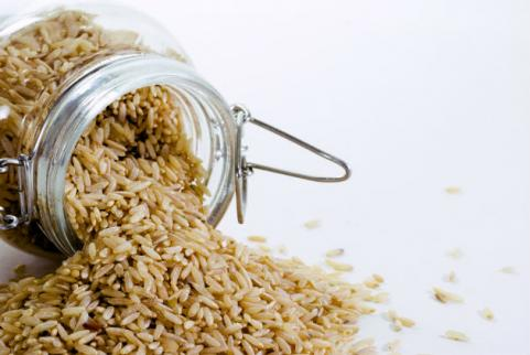 dry brown rice