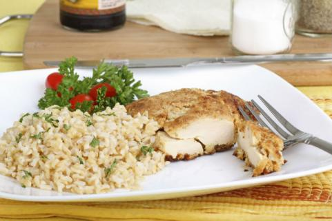 chicken with side of brown rice