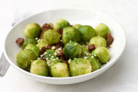Brussells sprouts with bacon