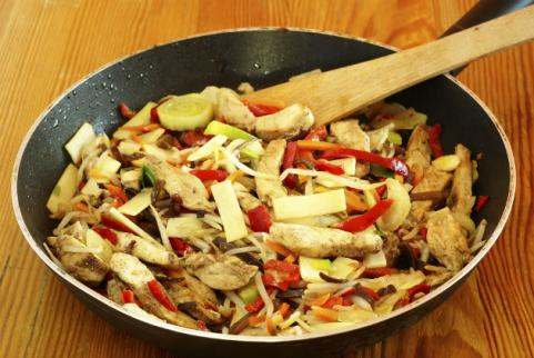chicken and chinese vegetable stir fry