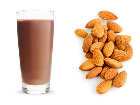 Chocolate Milk & Almonds