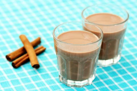 glasses of chocolate milk