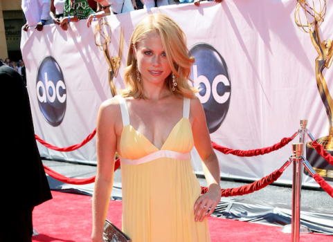 Claire Coffee on the red carpet