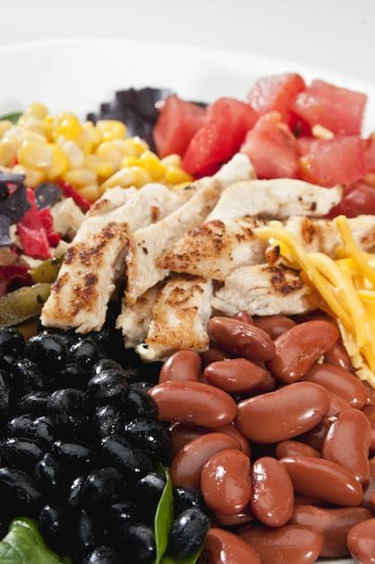 Chicken black bean salad