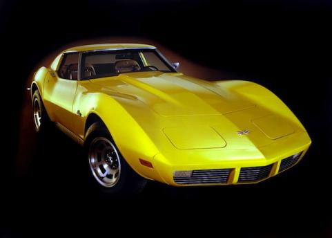 1973 Yellow Corvette