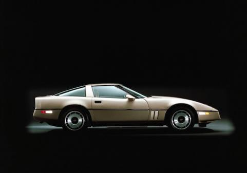 1984 brown Corvette