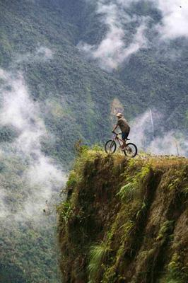 Gravity assisted mountain biking, Bolivia