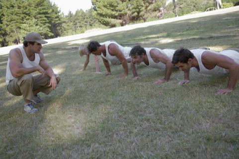 trainer at boot camp workout
