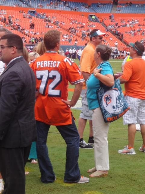 Miami Dolphins fan in Perfect 72 jersey