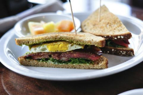 egg BLT sandwich