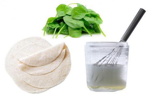 Egg White Tortilla with Spinach