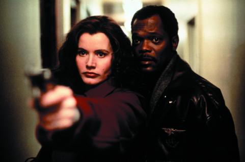 Geena Davis and Samuel Jackson in The Long Kiss Goodnight