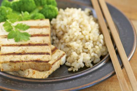 grilled tofu with rice