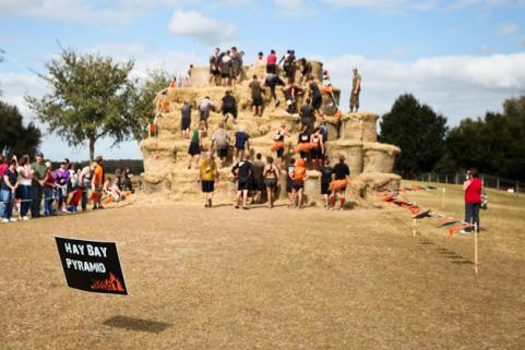 Tough Mudder Hay Bale Pyramid Florida