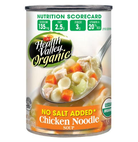 Health Valley Organic No Salt Added Chicken Noodle