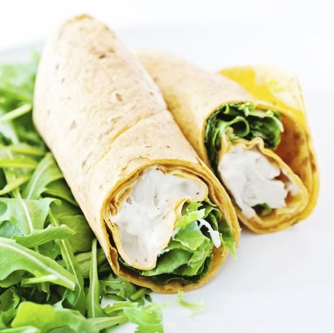 Honey mustard chicken wrap