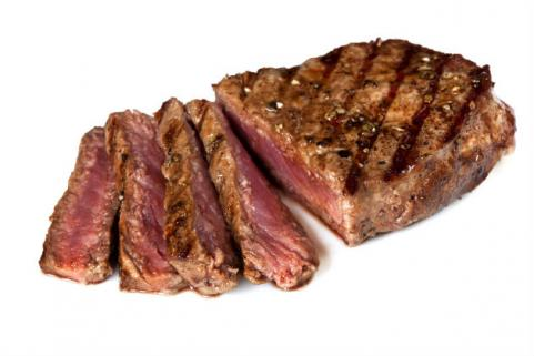 sliced steak