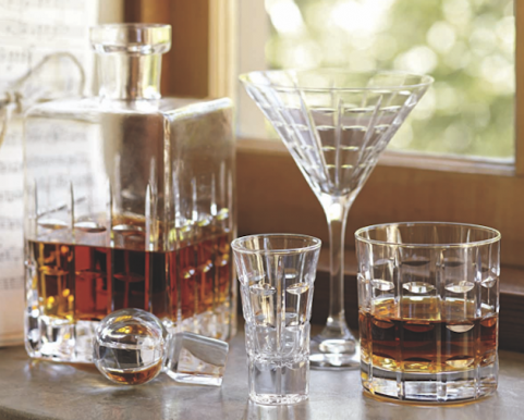 Glass bar set from Pottery Barn
