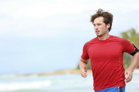man jogging outside