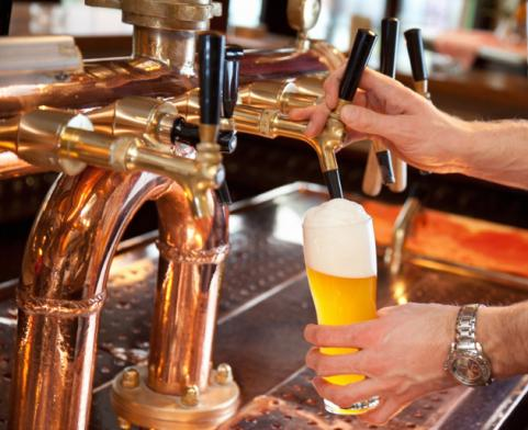 Pouring a Beer on Tap