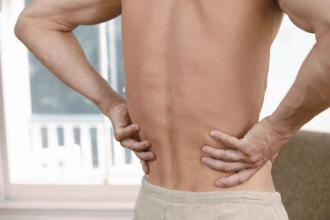 man with sore lower back